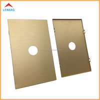 2016 hot custom golden brushed aluminum alloy metal protective light switch cover