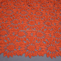 Orange Sunflower African lace fabrics Nigerian wholesale indian lace fabric HY0210