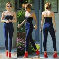 Американский Одежда Майли Сайрус женщин винтажном стиле высокая талия джинсы карандаш брюки плюс kz4209