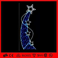 OBBO-PL christmas decoration street series light motif pole light with metor star