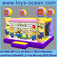 2016 despicable me and minion inflatable bouncy castle, cheap bounce house