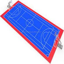 Outdoor football/basketball/badminiton pp interlock elastic durable rich-colors flooring