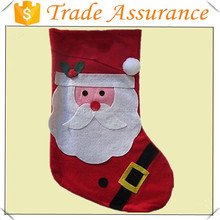 2015 fashion hotsell handmade Snow White Large Christmas Stocking (Santa) father xmas decoration christma socks