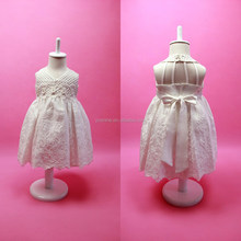 Luxury Embroidery Baby Frocks Sexy V-Neck Backless Cotton Halter Princess Dress For Flower Girls