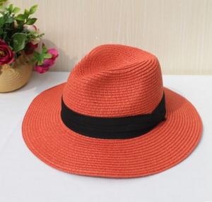 Логотипы полосатый шерстяной фетр соломы дамы летние fedora шляпах