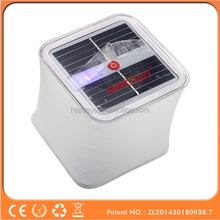 Seksun Hot sell air filled outdoor cube inflatable solar lantern for hiking