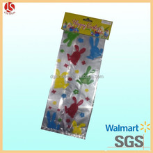 food grade gravure printing printed bunny cello candy bag with twist ties