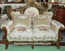 Danxueya factory price fancy sofa set wood carving living room furniture DXY-A08# victorian sectional sofa