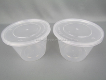 Customized used container wholesale clear plastic standard food container with lid