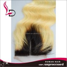 two tone lace closure piece 613 body wave 100%peruvian virgin hair lace closure virgin hair bundles with lace closure