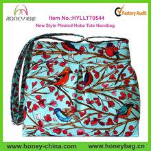 Nature Style China Wholesale Pleated Hobo Tote Handbag