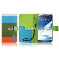 Hybrid Leather Flip Pouch skin cover case for galaxy note2 n7100