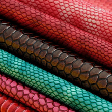 Embossed Snake Skin Synthetic PU Leather for Handbags