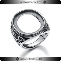 Top Sale antique style ring mounting 925 sterling silver diy jewelry fashion accessory cheap wholesale ring bases