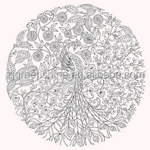 2015 Factory Direct Sale Secret Garden Coloring Book