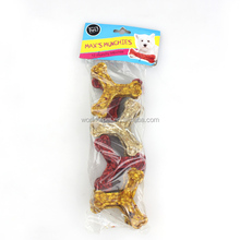 dog food factory assorted colours munchy tri bones shape for dog products