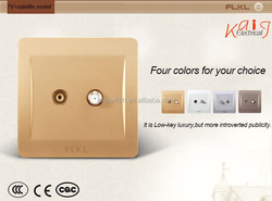 fashion design and high quality electrical wall switch socket, tv+satellite socket
