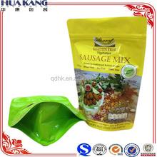 Resealable aluminum foil bag fro food packaging