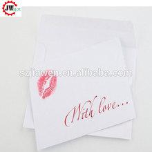 Sencilla últimas lujo de papel de tarjetas de felicitación plegable venta al por mayor tarjeta de
