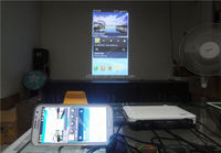 DLNA mini led projector WIFI / DLNA/ Miracast / Ezcast / Airplay Wireless WIFI Connection 3D movie mini beamer