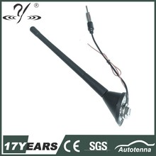 Roof mount rubber antenna amplifier for auto radio