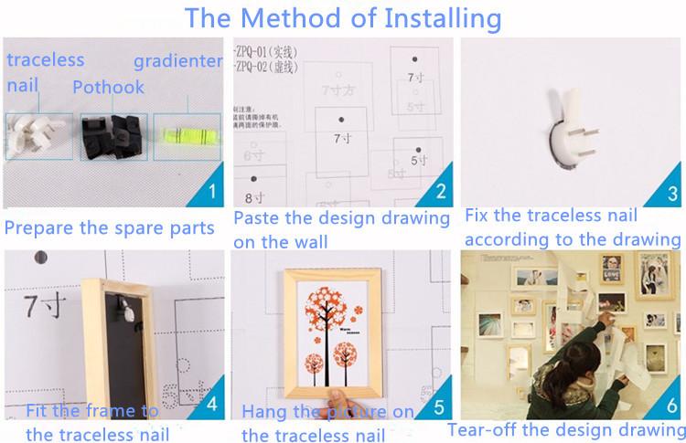 수동 연마 최신 디자인 잎 모양 프레임 벽 매달려/ 나무 사진 ...
