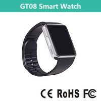 2015 1.54 inches GT08 smartwatch bluetotoh nfc smart watch with sim card