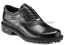 wholesale branded sport shoes, fashion stylish black golf shoes for men or women with spike for business