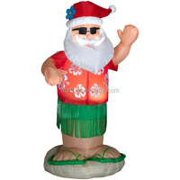hot sale hula dance santa,dancing santa,giant christmas inflatable