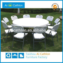 6ft portable banquet foldable round event party table and chair