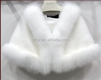 YR-254 Hot Sell New Design Woman Winter Wear Mink Knitted Shawls /Fur Ponchos /Mink fur cape