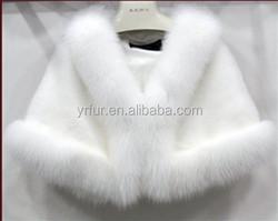 YR254 Hot Sell New Design Winter Wedding Wear Mink Shawls for Bridal
