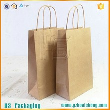 Professional custom all kinds of Wine kraft paper Bag / wine carrier bag