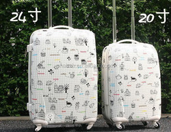 2015 new products popular and durable cartoon characters luggage