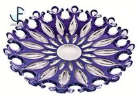 Professional OEM/ODM Factory Supply OEM Design colored glass cake plate from direct manufacturer