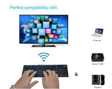 DIHAO mini i12 2.4G Wireless Mini Keyboard with Touchpad for Laptop PC TV Box , Aluminum Back