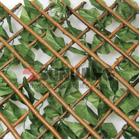 outdoor plastic artificial plant hedge green fence
