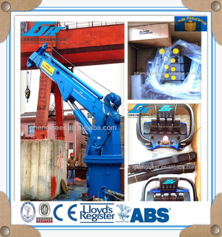 Telescopic Deck Cranes : Telescopic boom ship hydraulic marine deck crane buy