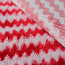 red and white stripe pv plush toy fabric