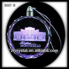 3d cristal láser LED colgante de cristal de regalo
