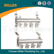4-way superior quality Brass Plumbing Manifold With Plastic Handle for underfloor heating Yuhuan Miller ML-7004