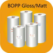 Bopp thermal lamination film bopp film manufacturer in china for hot laminating on paper, adhesive lamination film