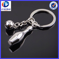 New Design Bowling and bottle Different shapes Metal keychains