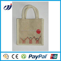 Reusable promotion Shopping Jute bag with rope handle,prices of jute bag,jute wine bag