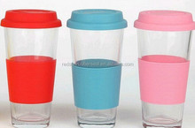 Eco-friendly silicone rubber cup sleeve, hot selling heat-resistant and anti-slip silicone cup holder