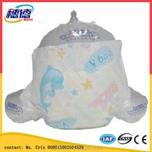 Venta al por mayor fabricación desechable soñoliento del pañal del bebé con cinta mágica en fujian