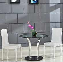 stainless steel tea table glass top design