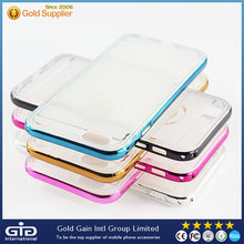 [NP-2366] Glitter 2 in 1 Transparent TPU Case with Electroplating Bumper for iPhone 6