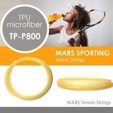 1.32mm gauge thermo elastic TPU microfiber tennis strings 12m/set for tennis racket/natural