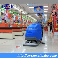 Supermarket walk behind automatic floor cleaning machine